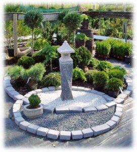 Dekorationsstenar trädgård
