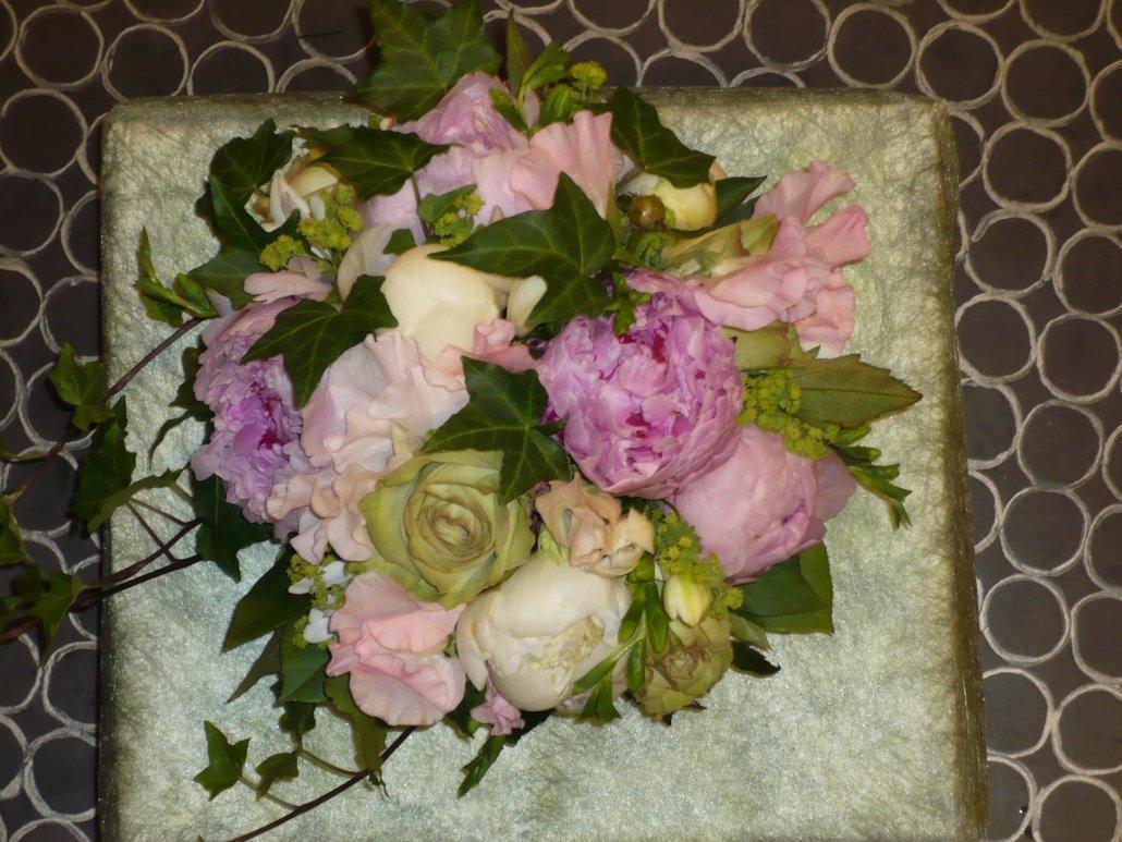 brudbukett, rosa nyanser