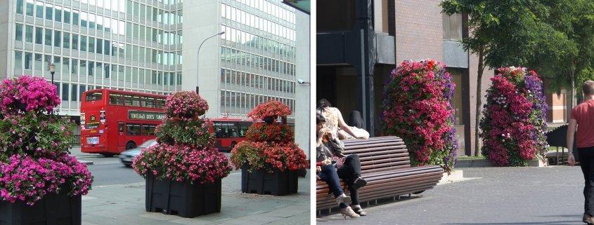 Blomstertorn i olika miljöer